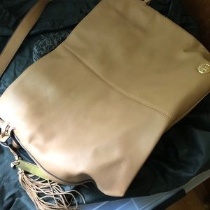 Vince Camuto Linny Leather Hobo (Nude)